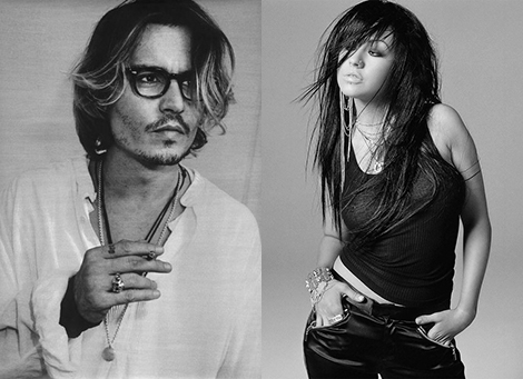 Johnny Depp y Christina Aguilera
