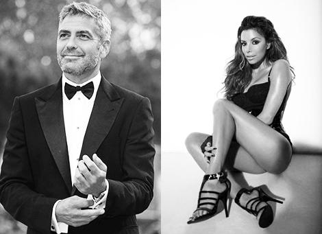 George Clooney y Eva Longoria