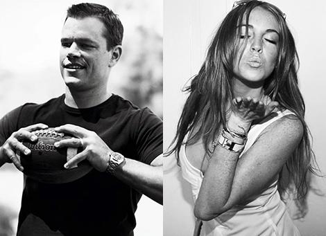 Matt Damon y Lindsay Lohan