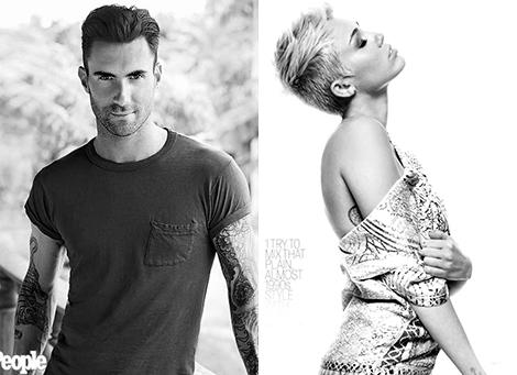 Adam Levine y Miley Cyrus